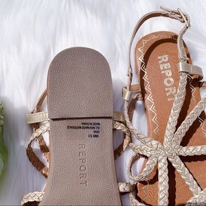 Report Shoes - NEW REPORT Gold Gina Sandals